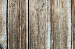 Texture of old gray wooden fence panels. Rustic background. Royalty Free Stock Photo