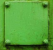 Texture of old green metal door Royalty Free Stock Image