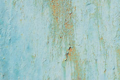 Texture of old green peeling paint Stock Photos