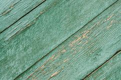 Texture of old green wooden boards background stock images