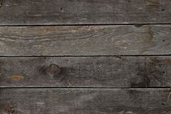 Texture of old grey wooden boards, background royalty free stock images