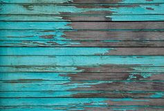 Blue wooden planks. Texture of the old horizontal wooden planks blue Stock Photography