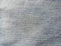 Texture of old jeans. Blue jeans background Stock Photography
