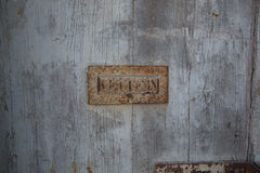 Texture of old letterbox Royalty Free Stock Photography