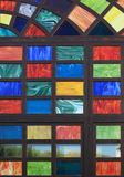 Texture of the old multi-colored stained-glass windows, backgrou Royalty Free Stock Image