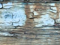Texture of the old, old, rotten, cracked, dilapidated, dilapidated, painted, swollen paint of a peeling textured tree with horizon. Tal fibers, patterned Royalty Free Stock Images