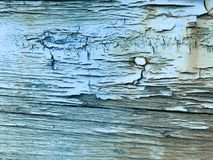 Texture of the old, old, rotten, cracked, dilapidated, dilapidated, painted, swollen paint of a peeling textured tree with horizon. Tal fibers, patterned Royalty Free Stock Photography