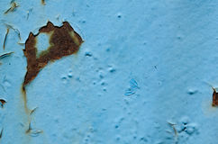 Texture of old paint blue Royalty Free Stock Photography