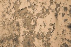 Sepia background peeling paint. royalty free stock photos