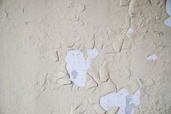 Remnants of old paint on the wall Royalty Free Stock Images