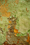 Texture old painted and destroied wall Stock Photography