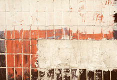 Texture of old painted tiles Royalty Free Stock Images