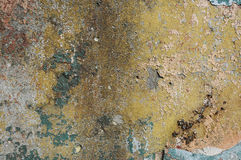 Texture of the old painted wall. Texture of the old shabby painted wall Royalty Free Stock Photography