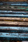 Texture of old painted wood. Painted, in different colors wooden slats have long grown old and faded royalty free stock photos