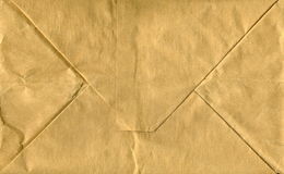 The texture of the old paper with abrasions. Wrinkled paper with space for text Royalty Free Stock Image