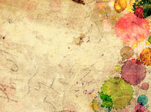 Texture old paper with stains of paint. Grunge background. Texture old paper with stains of paint Royalty Free Stock Image