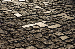 Texture of old pavers in Kiev Stock Images