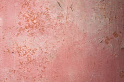 Texture of old  pink plastered walls Stock Photo