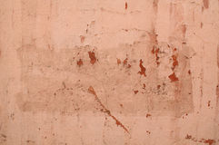 Texture of old pink stucco wall Stock Photography