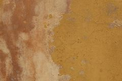 Texture of old plaster wall  pink and yellow colors Royalty Free Stock Images