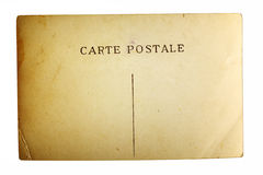 Texture of old postal card Royalty Free Stock Photography