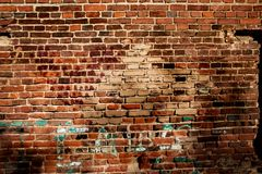 Texture of an old red brick wall Royalty Free Stock Images