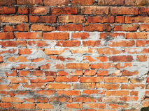 Texture.  of old red bricks, ruined wall Royalty Free Stock Images