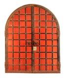 Texture of the old red metal door Kremlin, Kazan, Tatarstan Stock Photo