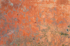 Texture of old red rusty shabby background with scratches. Metal Royalty Free Stock Photo