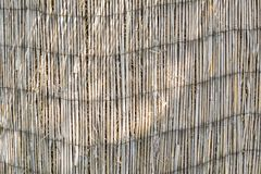 Texture of an old reed curtain Royalty Free Stock Photos