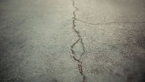 Texture of the old road with cracks. Asphalt surface on the street. Web banner size. 16 in 9 crop Royalty Free Stock Images