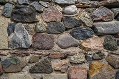 Texture of old rock wall for background, Medieval stone wall.  stock photos