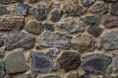 Texture of old rock wall for background, Medieval stone wall.  royalty free stock images