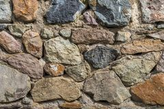 Texture of old rock wall for background, Medieval stone wall.  stock images