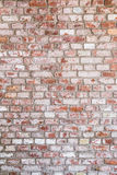 Texture of old rustic brick wall painted with white Stock Images