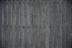 The texture of an old rustic wooden fence made of flat processed. Boards. Detailed image of a street fence of a rustic type made of wooden material close-up Stock Images