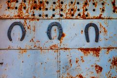 The texture of the old rusty metal royalty free stock images