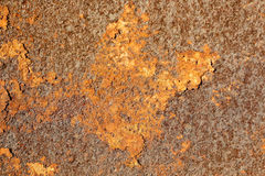 Texture of old rusty metal. Brown metal. Corrosion of the metal.  Stock Image