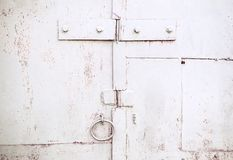 Texture of old rusty metal gates surface Royalty Free Stock Photos