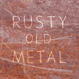Texture of the old rusty metal Royalty Free Stock Images
