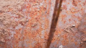 Texture of a old rusty pipe,. Texture of a old rusty pipe background texture stock footage