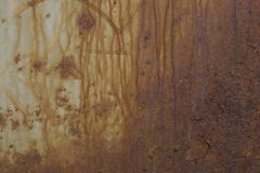 Texture of old rusty surface wall. Texture of old aged dirty rusty rough surface wall background Royalty Free Stock Photography