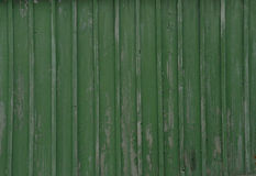 Texture of an old shabby boardwalk of green color Stock Photos