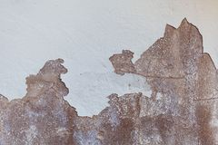Texture of old shabby and chipped white wall Stock Images