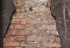 Texture of old shabby brick wall royalty free stock image