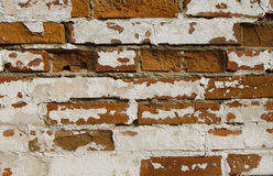 Texture of the old shattered brick walls Royalty Free Stock Photos