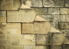 Texture of old stone steps Stock Image
