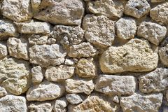 Texture old stone wall of ancient fortress Stock Images