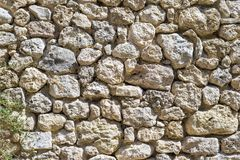 Texture old stone wall of ancient fortress Royalty Free Stock Image