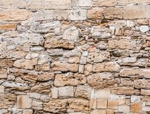 Texture of old stone wall. Old textured Royalty Free Stock Photography